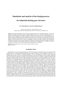 Simulation and analysis of hot forging process for industrial luck