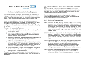 Health & Safety Leaflet - West Suffolk NHS Foundation Trust