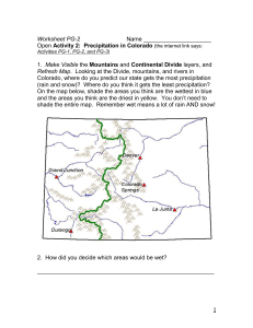 The Continental Divide and Colorado`s Life Zones and Precipitation
