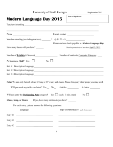 1 REGISTRATION: NGC FOREIGN LANGUAGE DAY