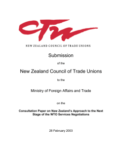 M - New Zealand Council of Trade Unions