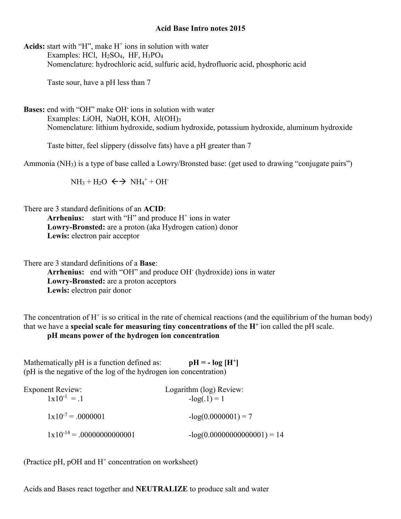 Worksheet Acid Base Neutralization Worksheet Worksheet Fun