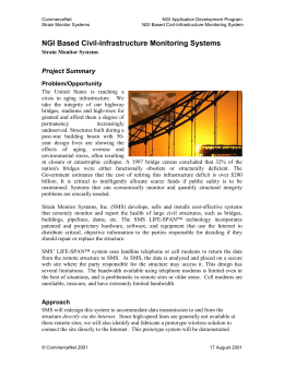 NGI Based Civil-Infrastructure Monitoring Systems