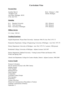 View Curriculum Vitae - College of Literature, Science, and the Arts
