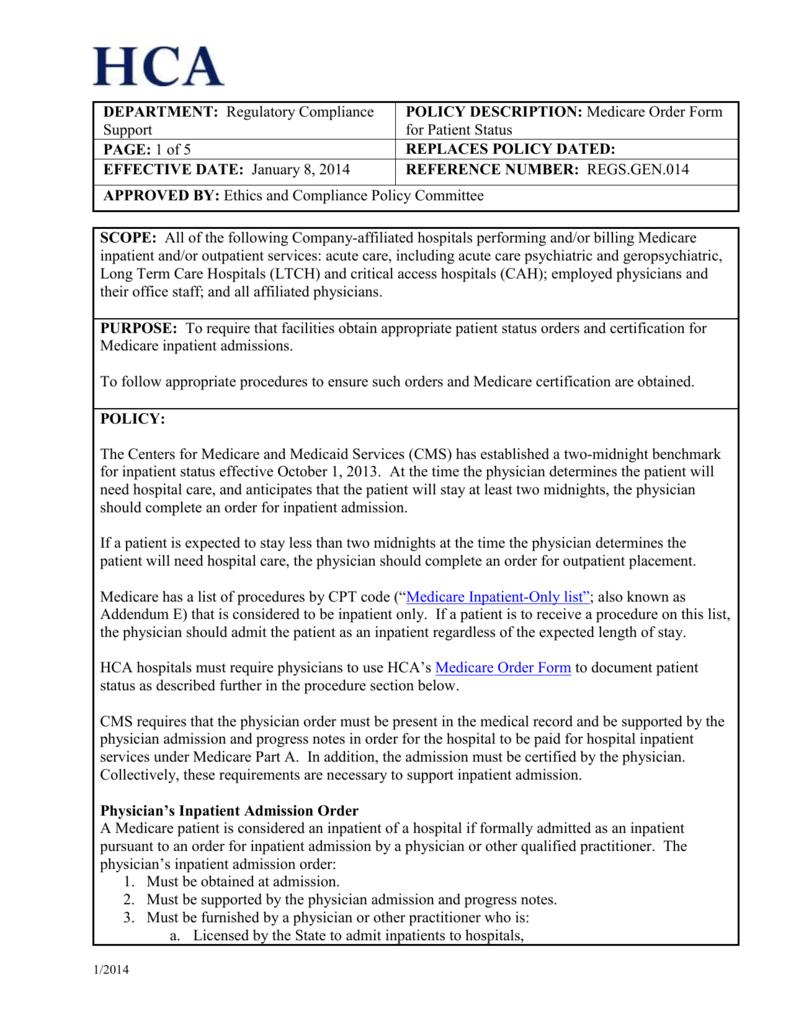 Scope Hca Ethics Compliance