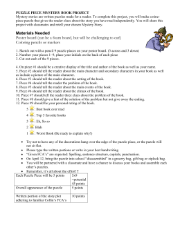 mystery puzzle piece book report This mystery puzzle poster book report is perfect for your students to use to respond to and share the book that they just finished reading whether it's for an assigned book report or for a.