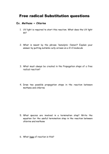 Free radical reactions : Questions