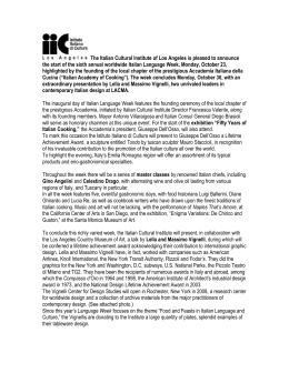 the press release - Italian Cultural Institute of Los Angeles