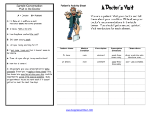 Patients Activity Sheet