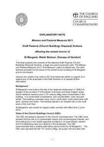 EXPLANATORY NOTE Mission and Pastoral Measure 2011 Draft