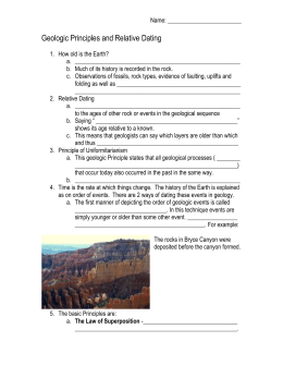 Geologic Principles and Relative Dating