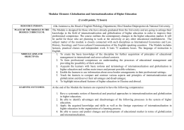 Globalization and Internationalization of Higher Education