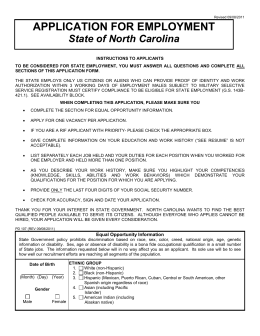 Application - North Carolina State Ports Authority