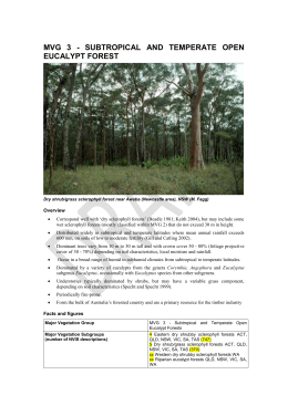 Eucalypt Open Forests - Department of the Environment