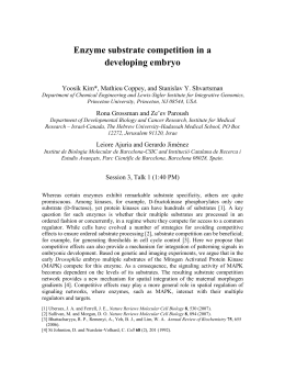 Enzyme substrate competition in a developing