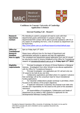 Cambridge MRC CiC Cribsheet Round 5