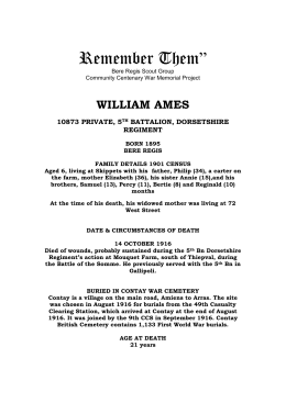 william ames - Bere Regis Village Website