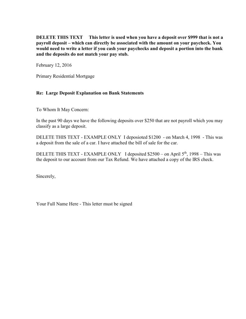 Large deposit explanation letter expocarfo