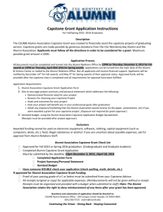 Capstone Grant Instructions