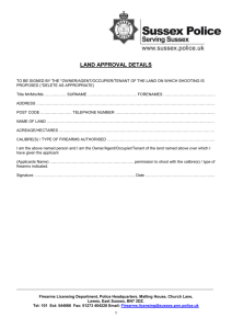 Section 1 Firearms Land Approval Request