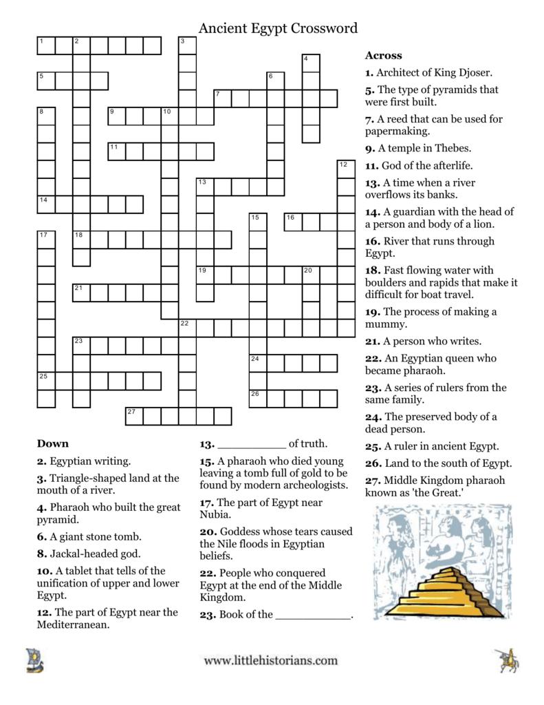 Ancient Egypt Crossword 2