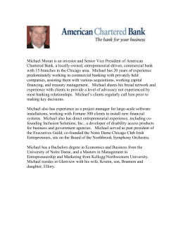 Michael Moran bio - Notre Dame Club of Chicago