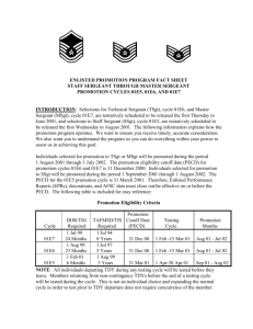 Enlisted Promotion fact sheet