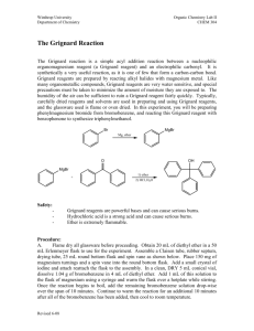 The Grignard Reaction - Chemistry at Winthrop University