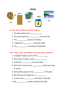 NOUNS - Primary Resources