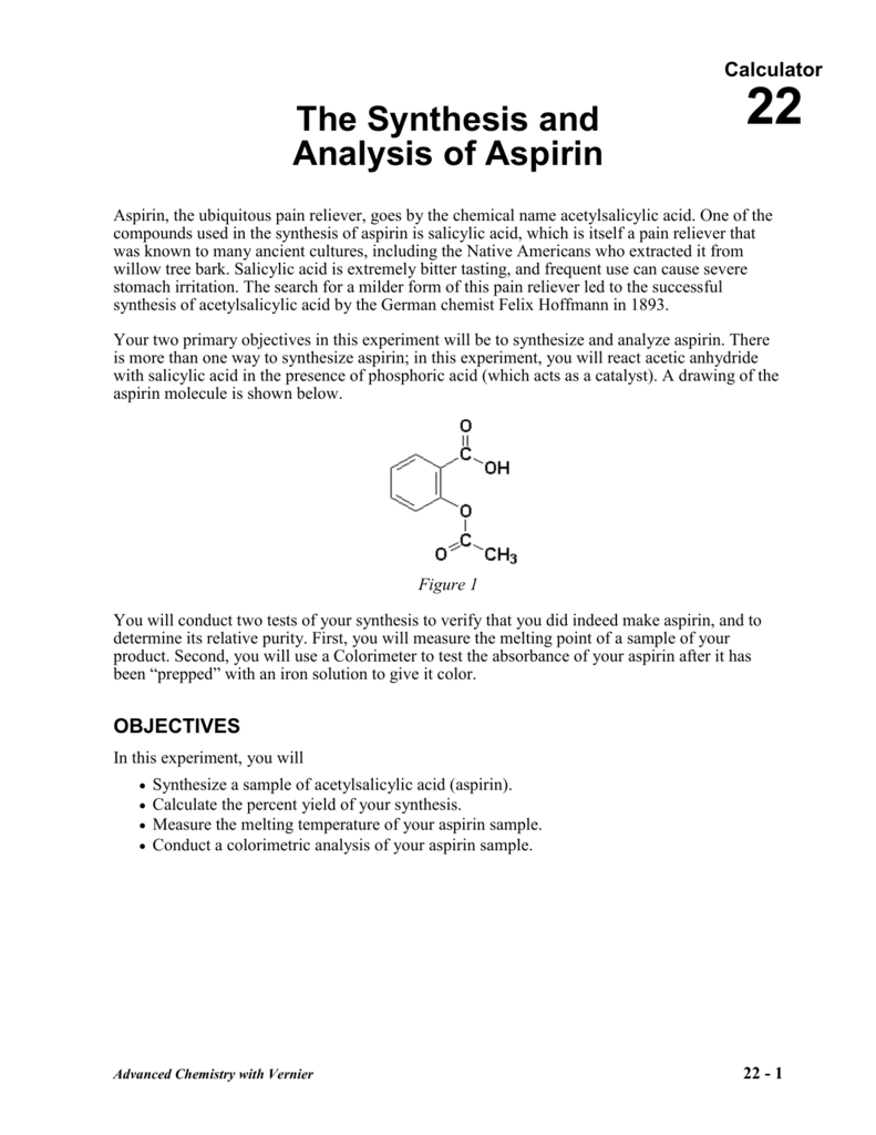 what is the purity of aspirin