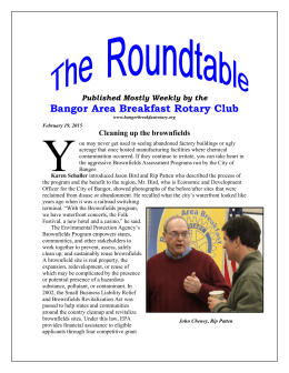 Published Mostly Weekly by the - Bangor Area Breakfast Rotary Club
