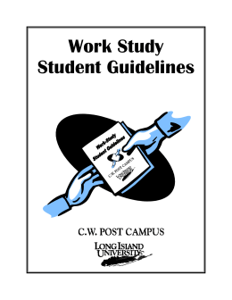 Work Study Student Guidelines publication