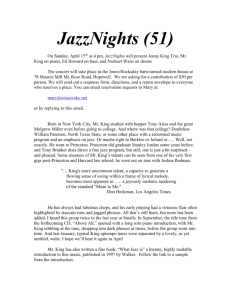 JazzNights 51, Jonny King, Ed Howard