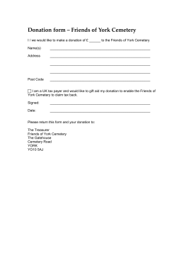 Donation form – Friends of York Cemetery