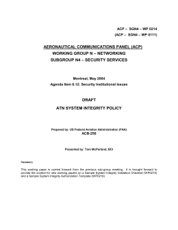Draft ATN system integrity policy (WP0111)