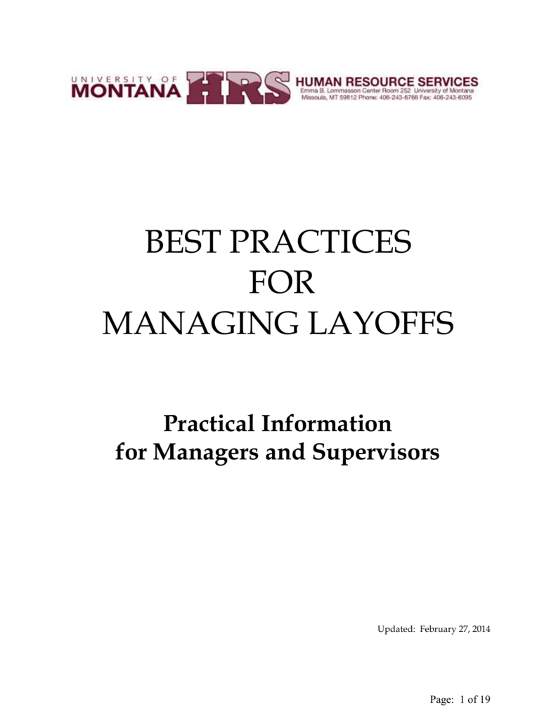 best practices for managing layoffs