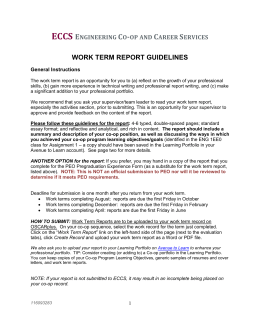 Work Term Report Guidelines