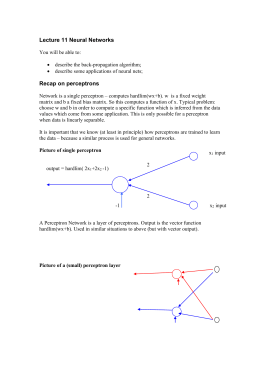 Lecture 11 Neural Networks