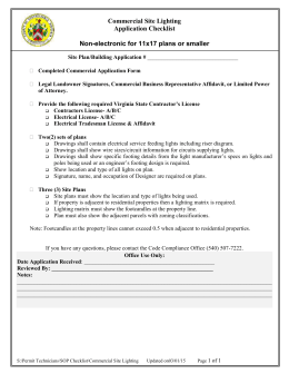 Comm. Site Lighting Checklist 3-1-2015