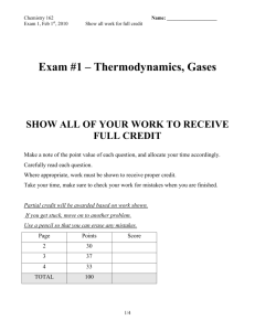 Gas Laws & Thermochemistry