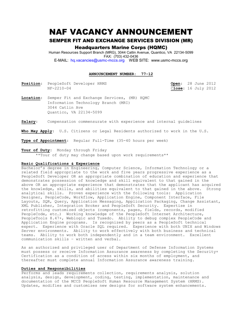 77-12 - Arlington Employment Center Job Board