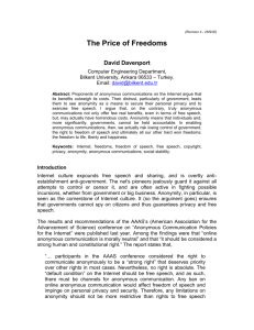 The Price of Freedoms