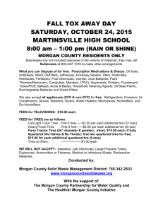 FALL TOX AWAY DAY SATURDAY, OCTOBER 24, 2015 MARTINS