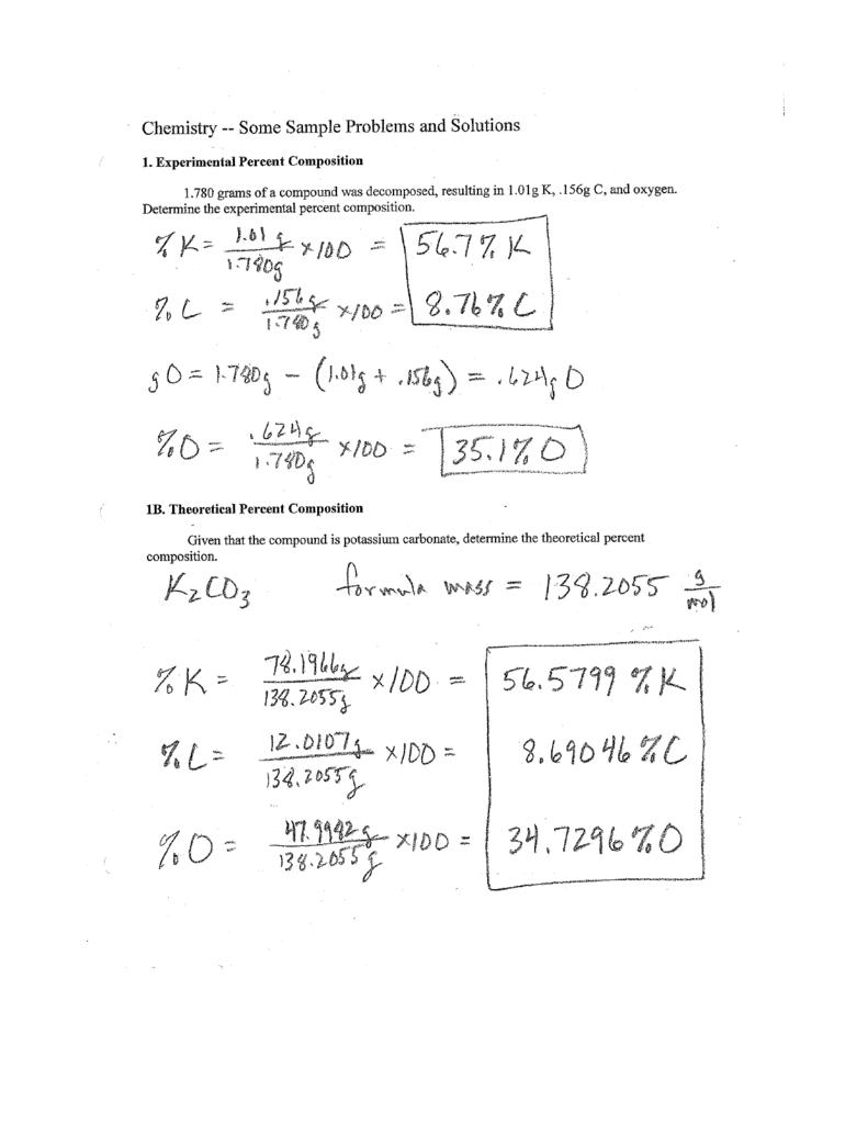 Empirical And Molecular Formulas