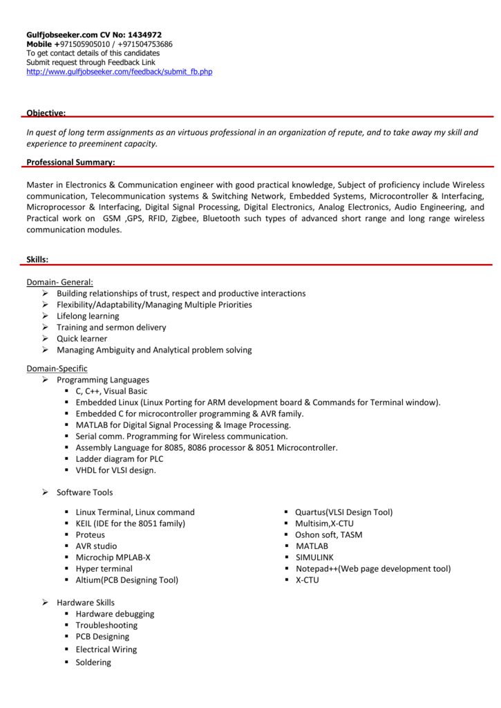 CV - Gulfjobseeker