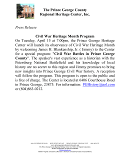 Press Release Civil War Heritage Month Program On Tuesday, April