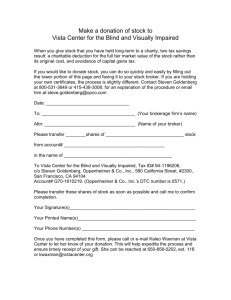 Stock Donation Form - Vista Center for the Blind and Visually Impaired