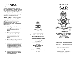 sbc-sar_brochure - Saratoga Battle Chapter