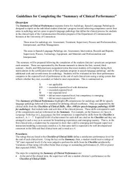 University of South Alabama Department of Speech Pathology and Audiology