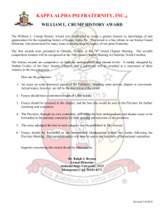 SUBMISSION OF THE CRUMP - Kappa Alpha Psi Fraternity